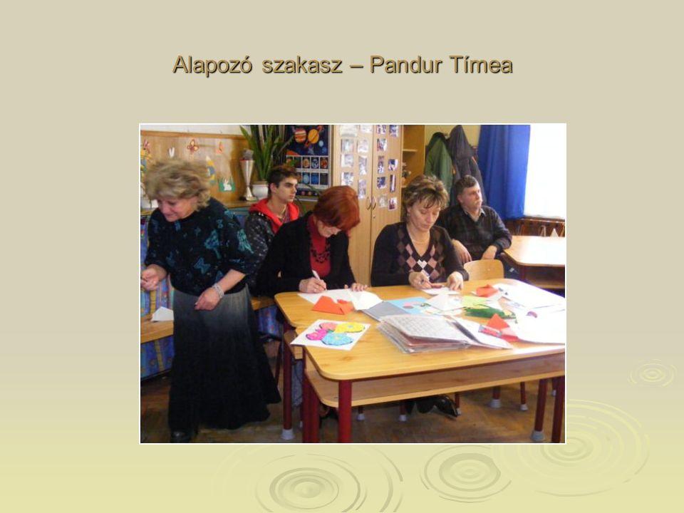 Alapozó szakasz – Pandur Tímea