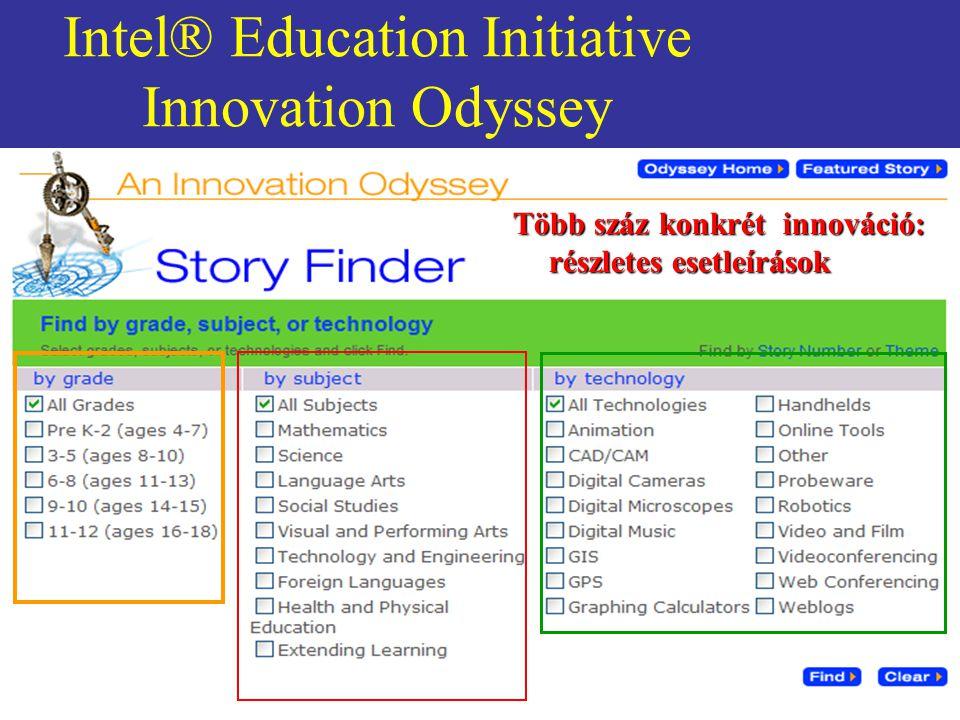 Intel® Education Initiative Innovation Odyssey Több száz konkrét innováció: részletes esetleírások