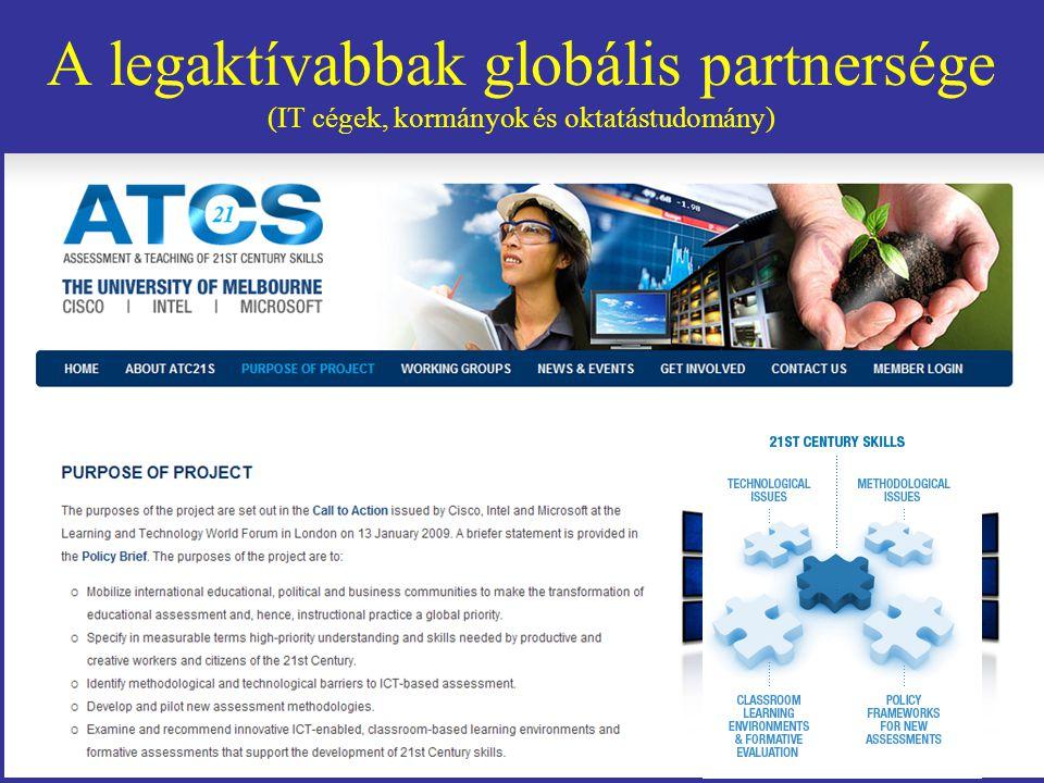 A legaktívabbak globális partnersége (IT cégek, kormányok és oktatástudomány)