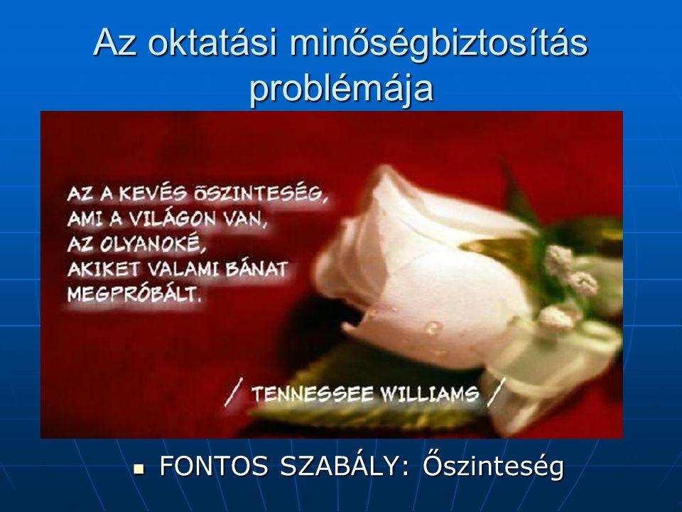 FONTOS SZABÁLY: Őszinteség FONTOS SZABÁLY: Őszinteség