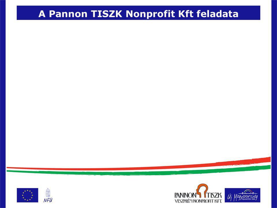 A Pannon TISZK Nonprofit Kft feladata