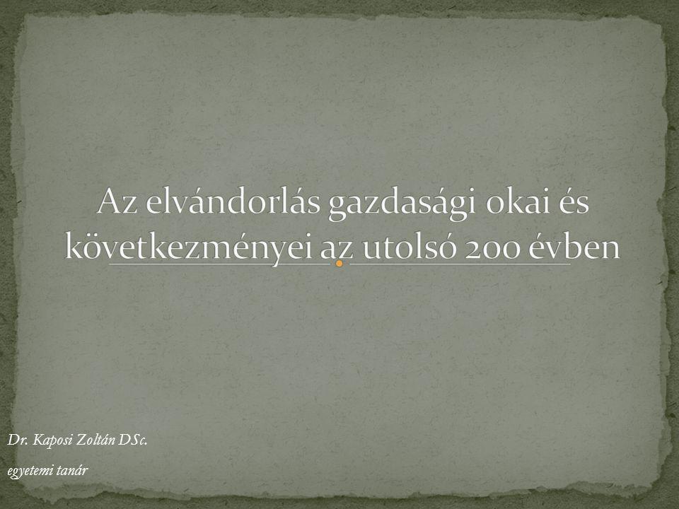 Dr. Kaposi Zoltán DSc. egyetemi tanár