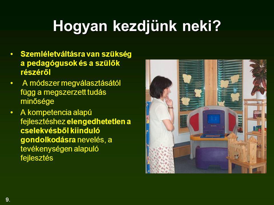 9. Hogyan kezdjünk neki? Szemléletváltásra van szükség a pedagógusok és a szülők részéről A módszer megválasztásától függ a megszerzett tudás minősége