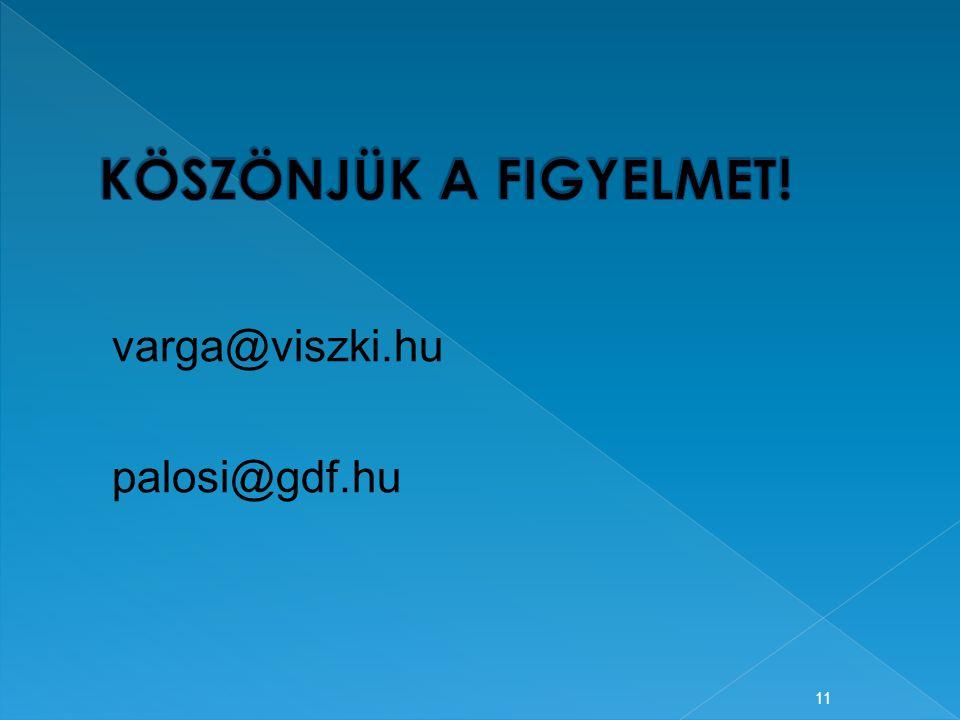 11 varga@viszki.hu palosi@gdf.hu