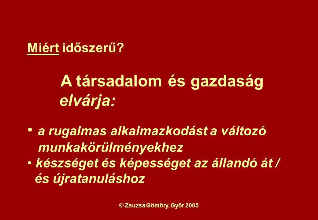 © Zsuzsa Gömöry, Györ 2005 Miért időszerű.
