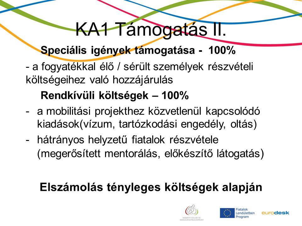 KA1 Támogatás II.
