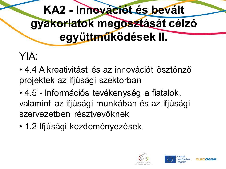 KA2 - Innovációt és bevált gyakorlatok megosztását célzó együttműködések II.