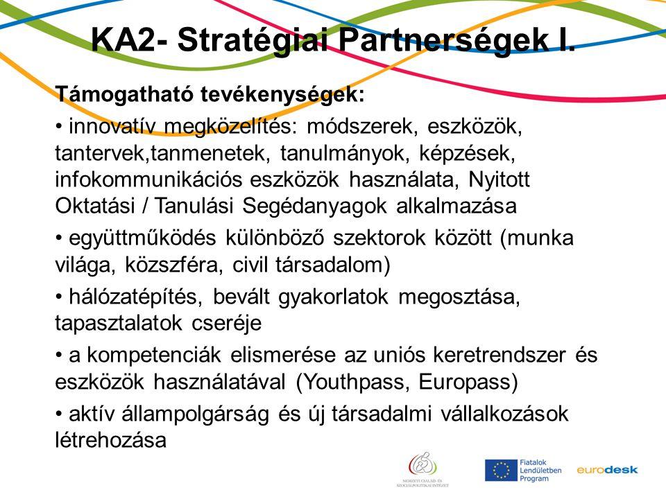 KA2- Stratégiai Partnerségek I.