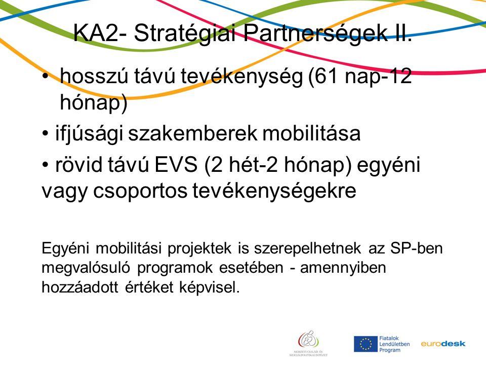 KA2- Stratégiai Partnerségek II.
