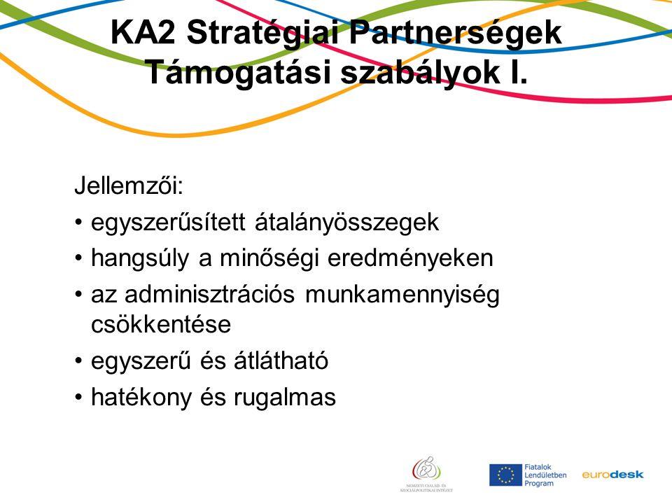 KA2 Stratégiai Partnerségek Támogatási szabályok I.