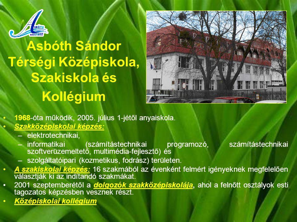Asbóth Sándor Térségi Középiskola, Szakiskola és Kollégium 1968-óta működik, 2005.