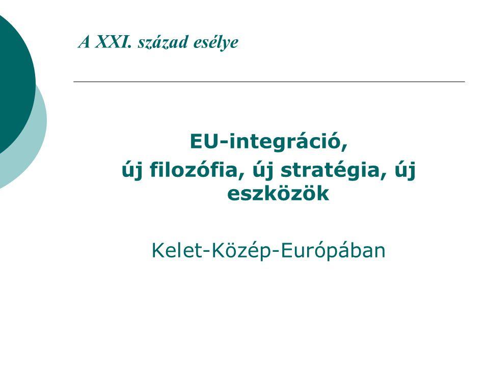 A XXI. század esélye EU-integráció, új filozófia, új stratégia, új eszközök Kelet-Közép-Európában