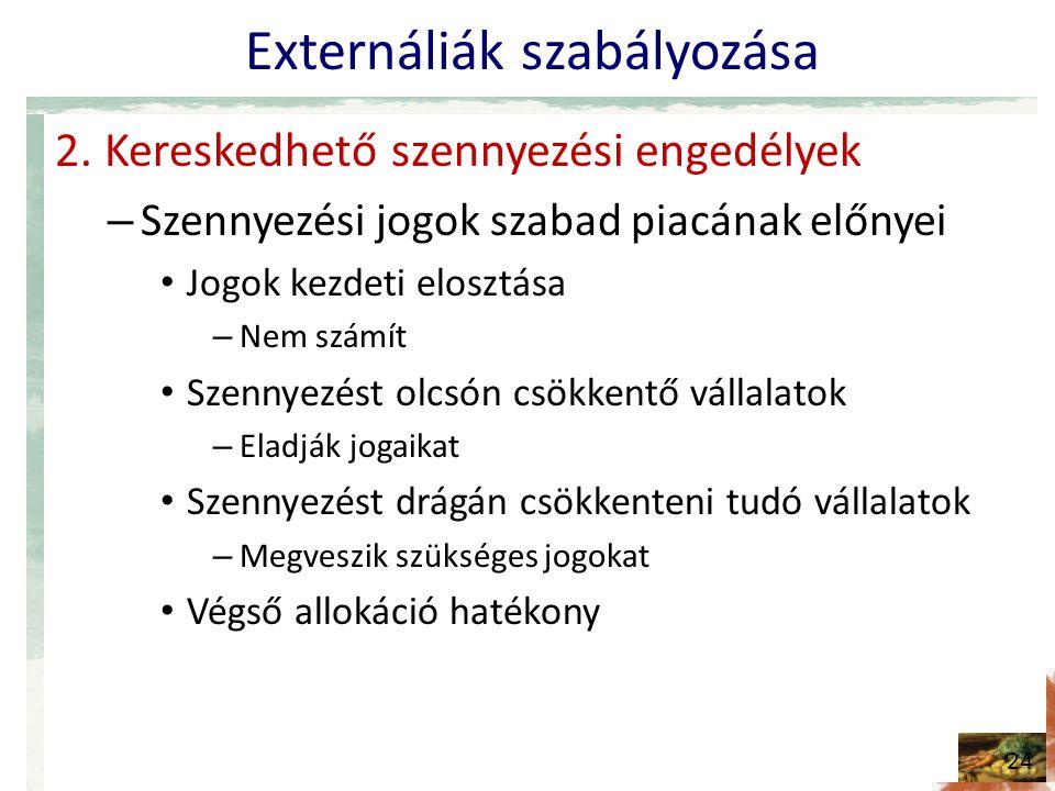 Externáliák szabályozása 2.