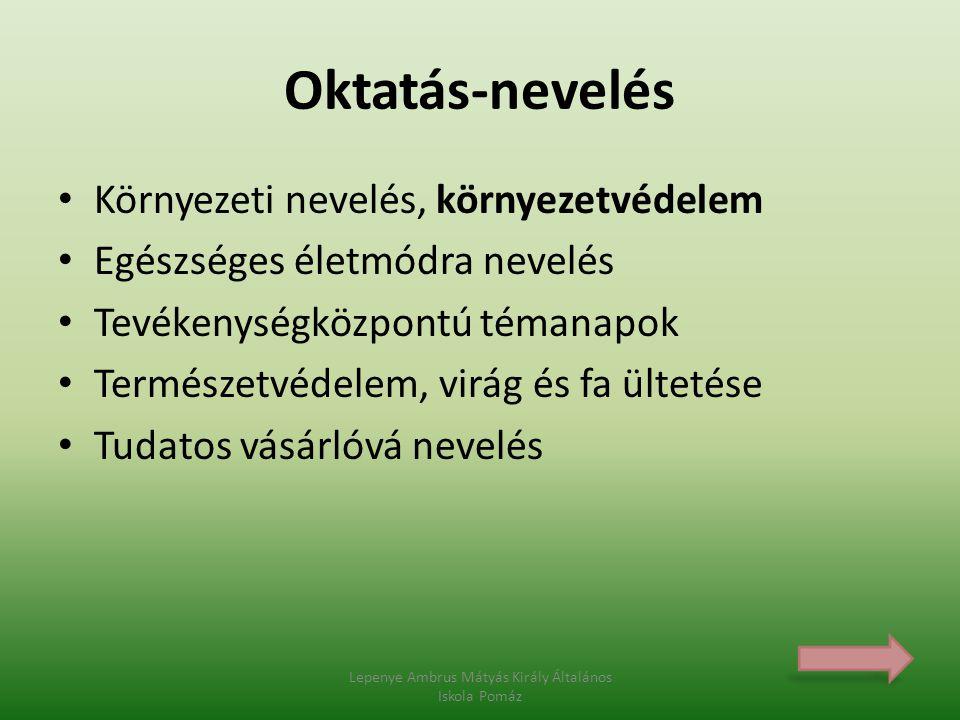 Környezetbarát közlekedés Lepenye Ambrus Mátyás Király Általános Iskola Pomáz
