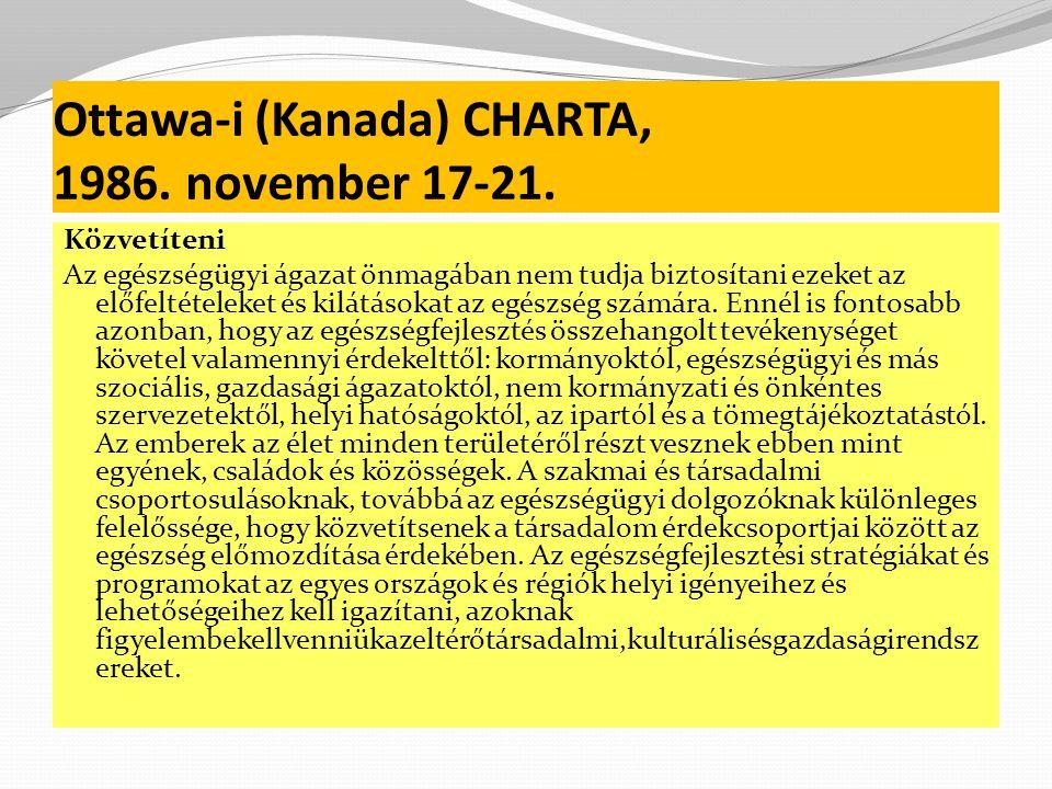 Ottawa-i (Kanada) CHARTA, 1986.november 17-21.