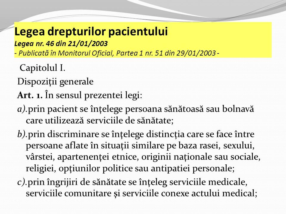 Legea drepturilor pacientului Legea nr.