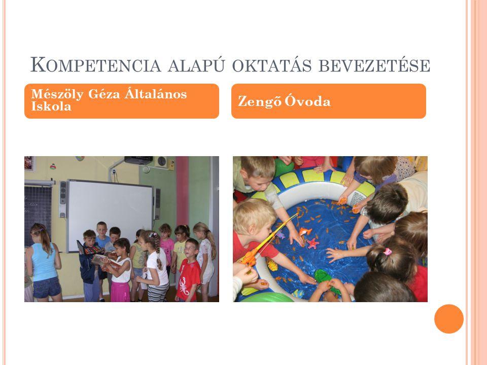 K OMPETENCIA ALAPÚ OKTATÁS BEVEZETÉSE Mészöly Géza Általános Iskola Zengő Óvoda