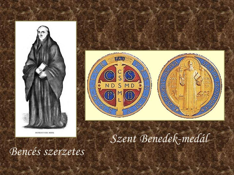 Bencés szerzetes Szent Benedek-medál