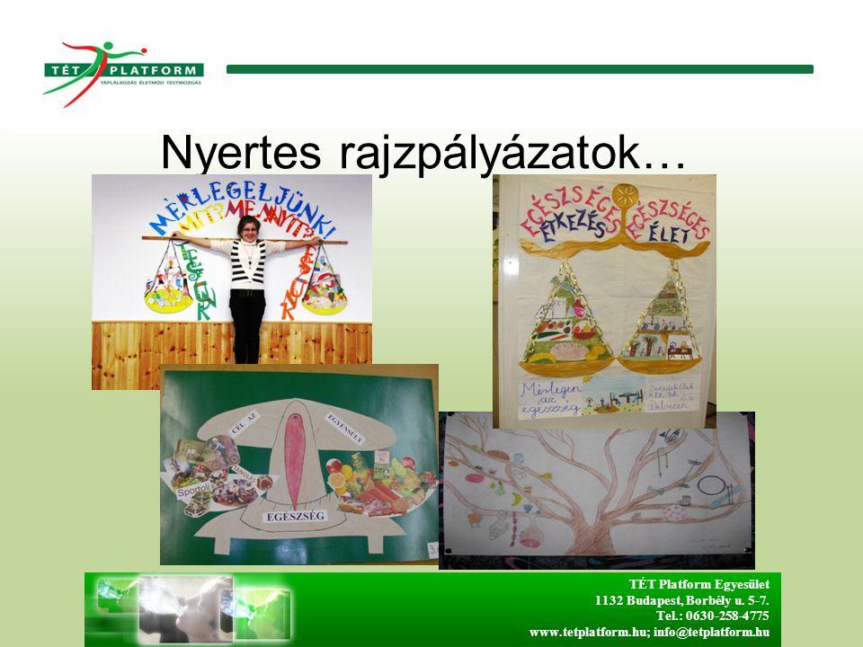 Nyertes rajzpályázatok… TÉT Platform Egyesület 1132 Budapest, Borbély u.