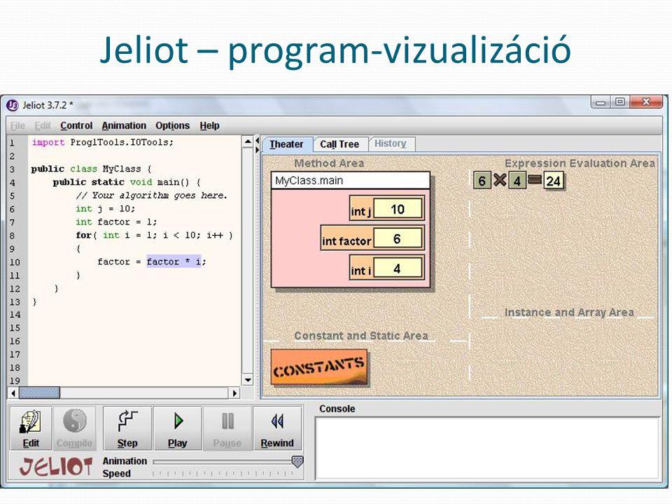 Jeliot – program-vizualizáció