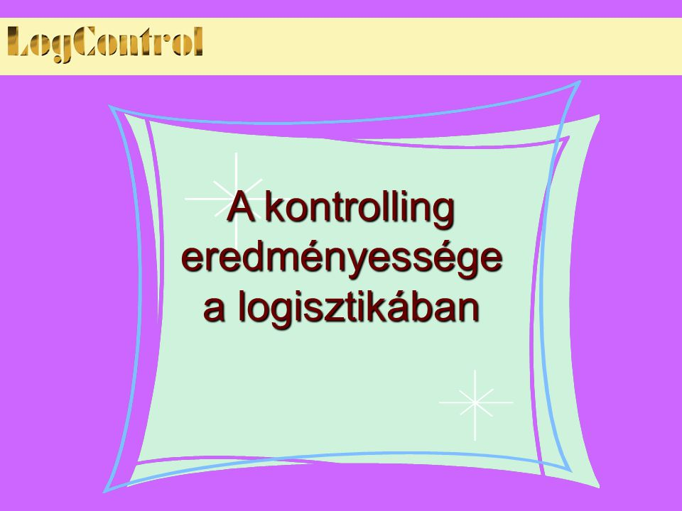 A kontrolling eredményessége a logisztikában