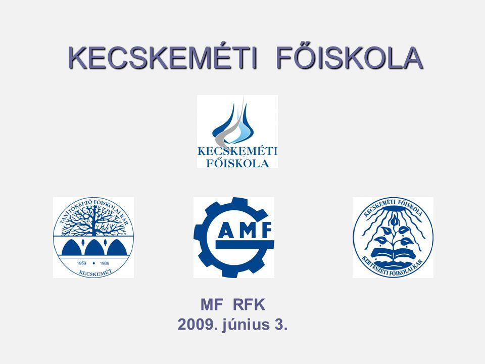 Kecskeméti Főiskola (KF)   Gépipari és Automatizálási Műszaki Főiskolai Kar (GAMF)   Kertészeti Főiskolai Kar (KFK)   Tanítóképző Főiskolai Kar (TFK) Összes Hallgató: 4500– 5000 fő Összes oktató, tanár: 150 – 160 fő