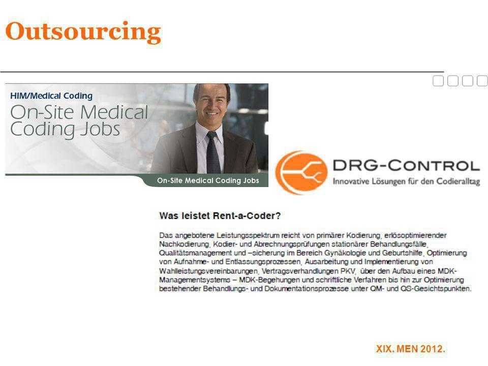XIX. MEN 2012. Outsourcing