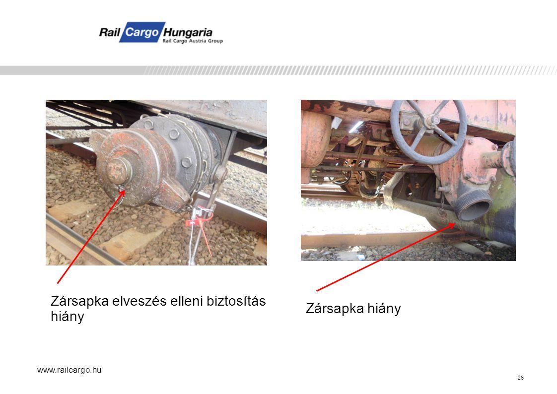www.railcargo.hu Zársapka elveszés elleni biztosítás hiány Zársapka hiány 26