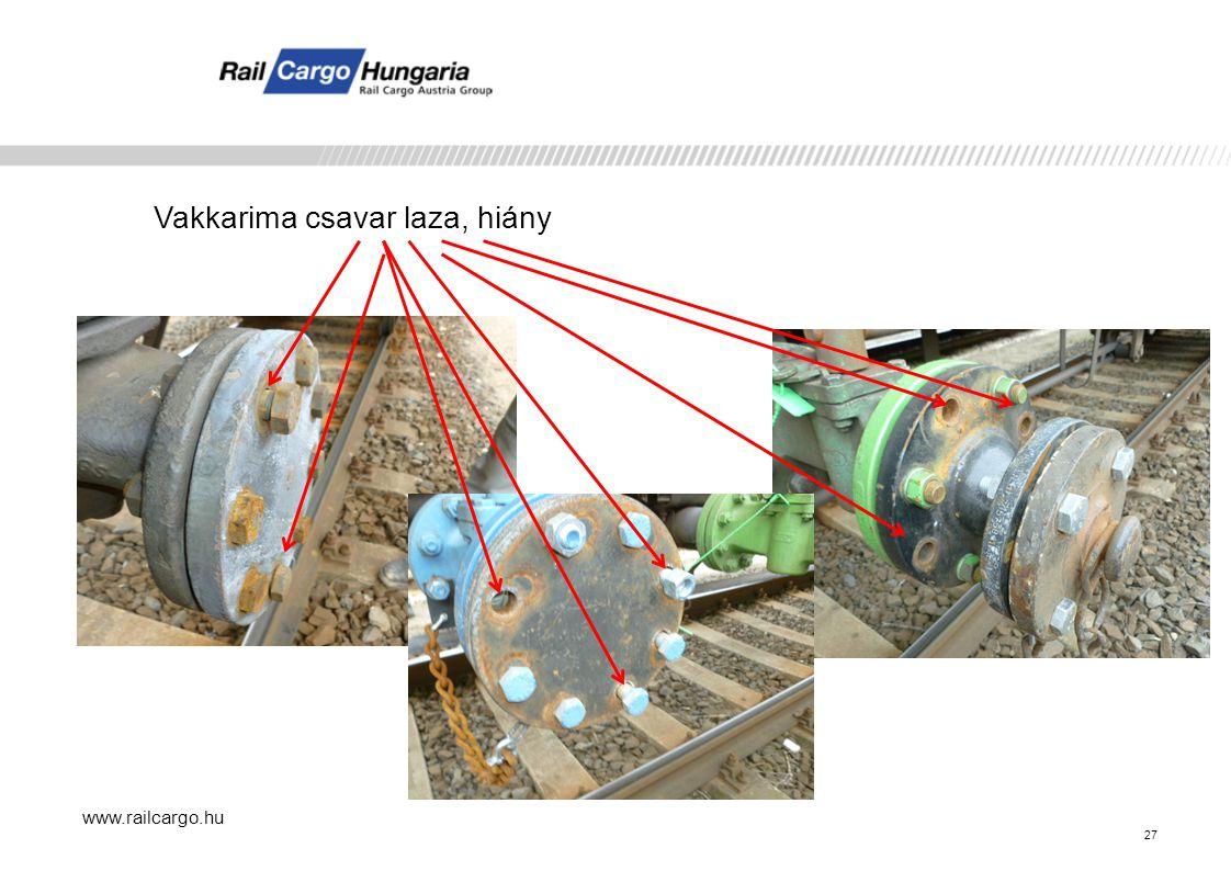 www.railcargo.hu Vakkarima csavar laza, hiány 27