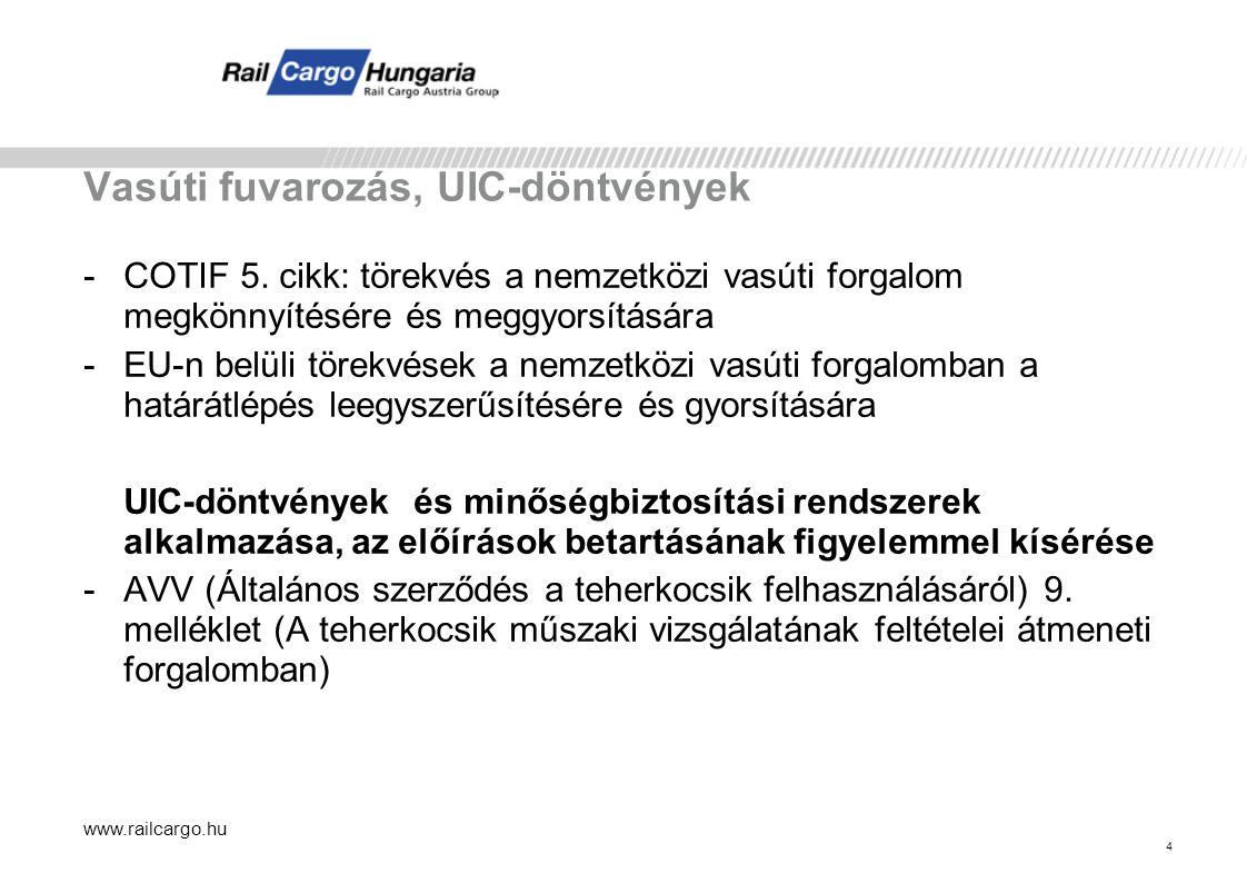 """www.railcargo.hu 15 RID adatok a mindenkori fuvarokmányon az """"Áru megnevezése rovatban """"Veszélyt jelölő szám (20 oszlop) """"UN betűk """"UN szám (1 oszlop) """"Megnevezés és leírás szükség esetén kiegészítve a műszaki megnevezéssel (2 oszlop) """"Bárcák (5 oszlop) """"Csomagolási csoport (4 oszlop) 33 UN 1203 Benzin 3 II."""