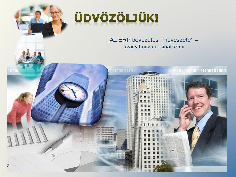 """Az ERP bevezetés """"művészete – avagy hogyan csináljuk mi"""