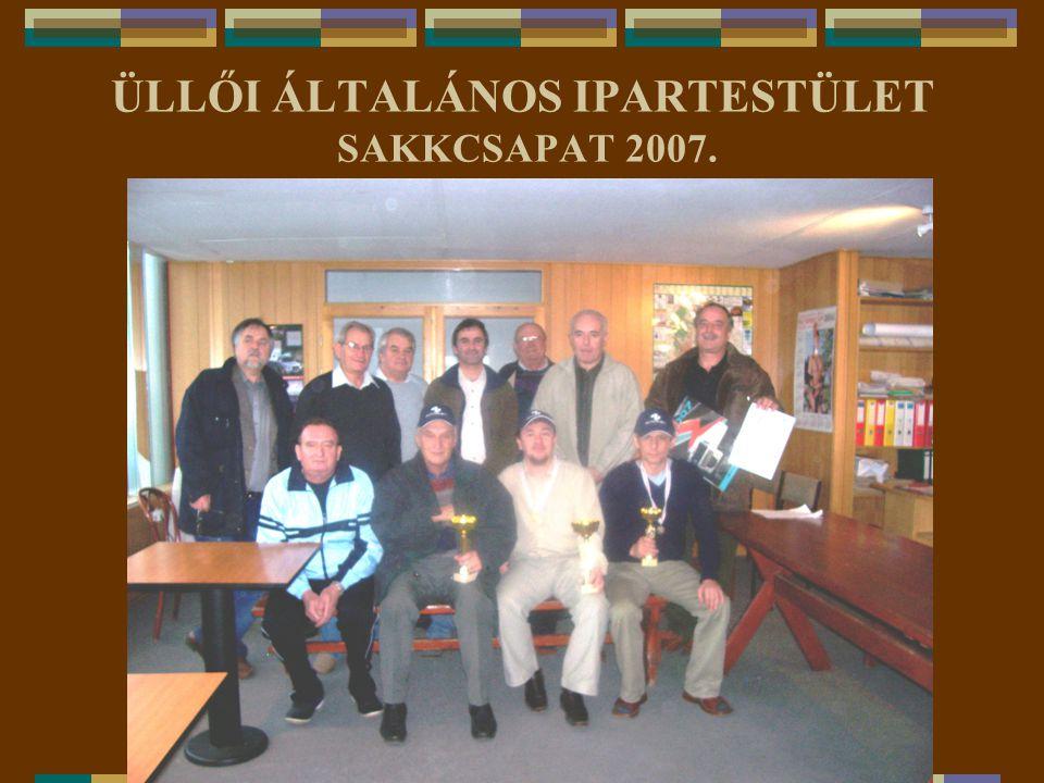 ÜLLŐI ÁLTALÁNOS IPARTESTÜLET SAKKCSAPAT 2007.