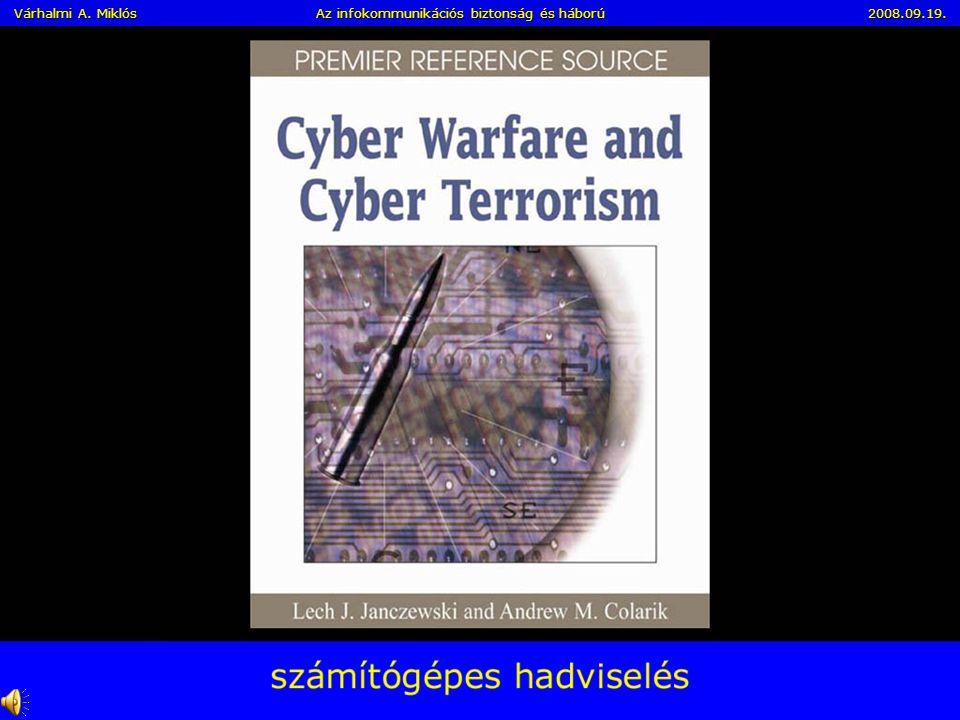 Az Információs Forradalom és Társadalom kihívásai I. Norbert Wienernek, az információelmélet és a modern kibernetika megalkotójának előrelátása: –Az i
