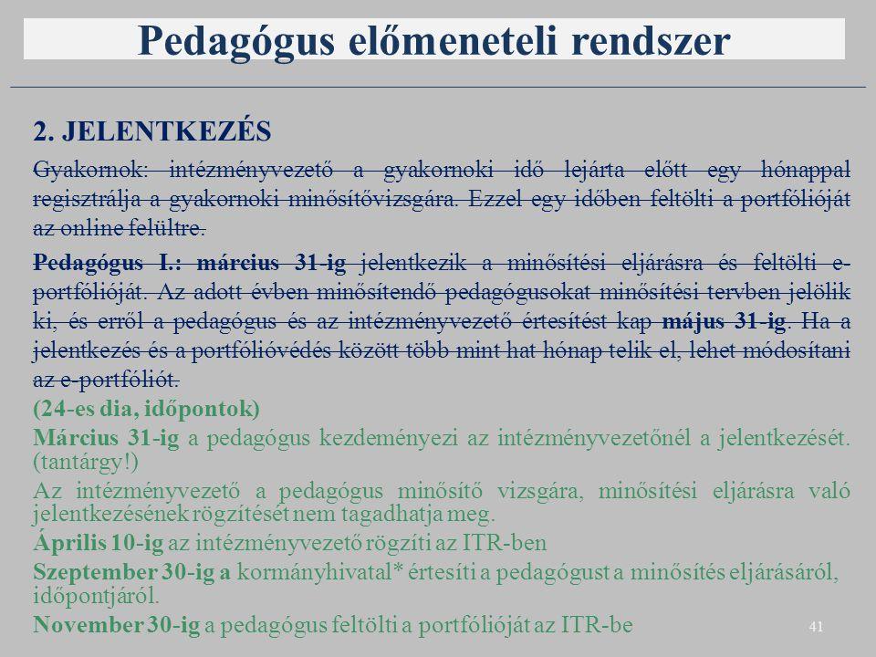 Pedagógus előmeneteli rendszer 2.