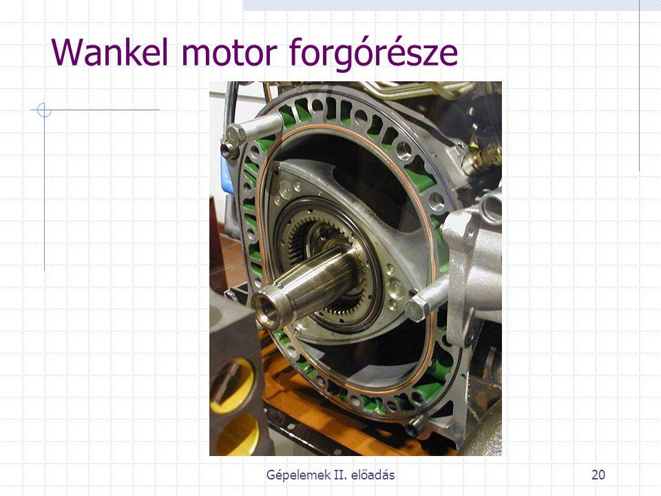 Gépelemek II. előadás20 Wankel motor forgórésze