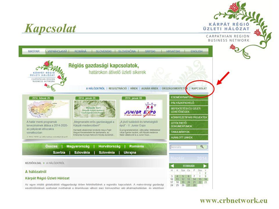 Kapcsolat www.crbnetwork.eu