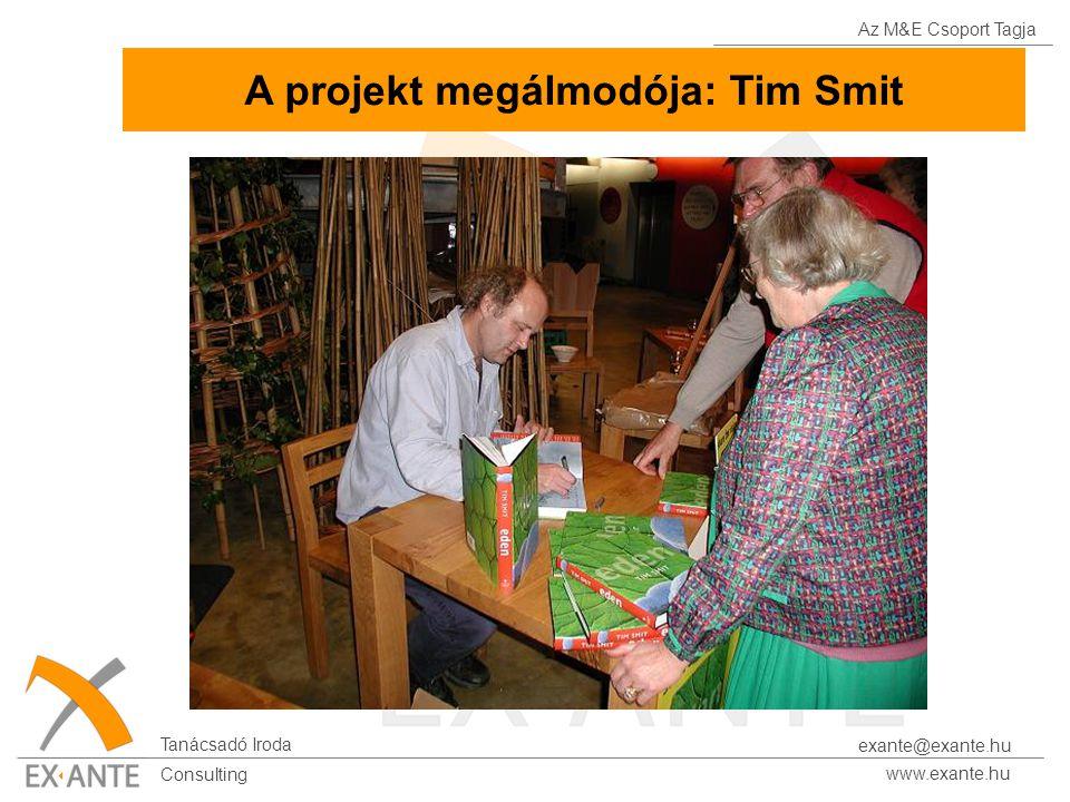 Az M&E Csoport Tagja Tanácsadó Iroda www.exante.hu Consulting exante@exante.hu A projekt megálmodója: Tim Smit
