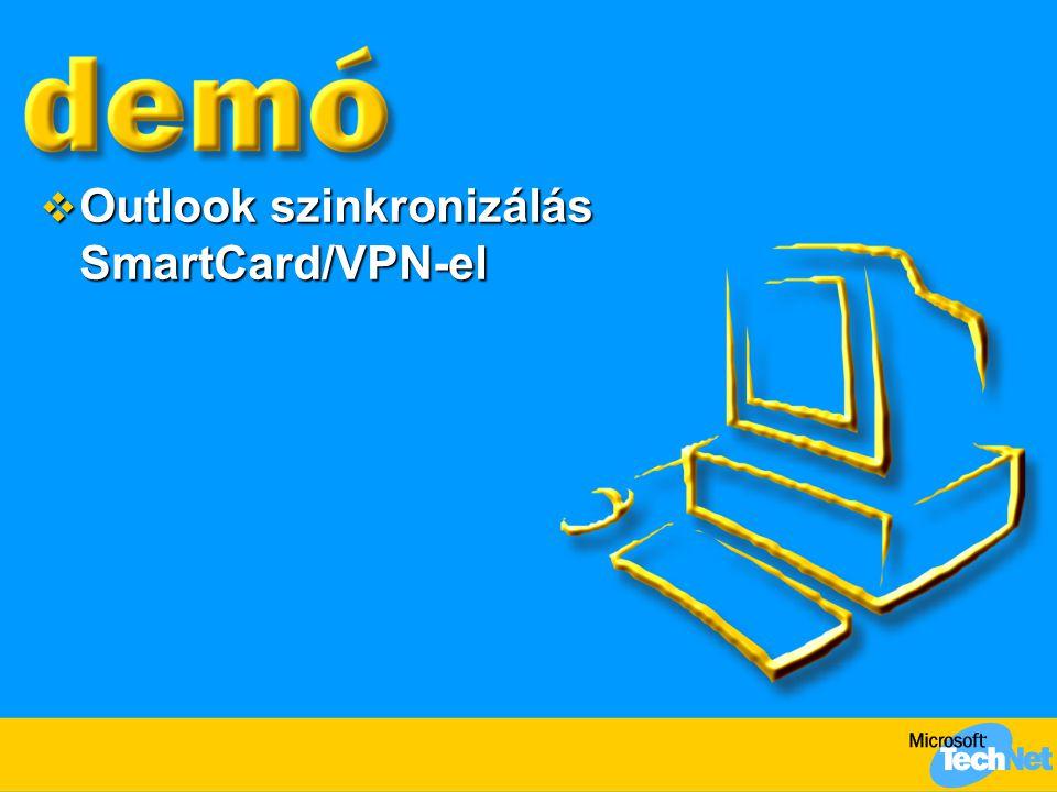  Outlook szinkronizálás SmartCard/VPN-el