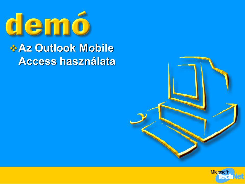  Az Outlook Mobile Access használata