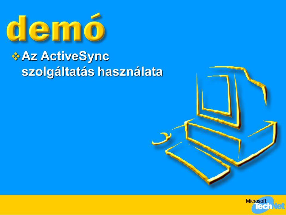  Az ActiveSync szolgáltatás használata