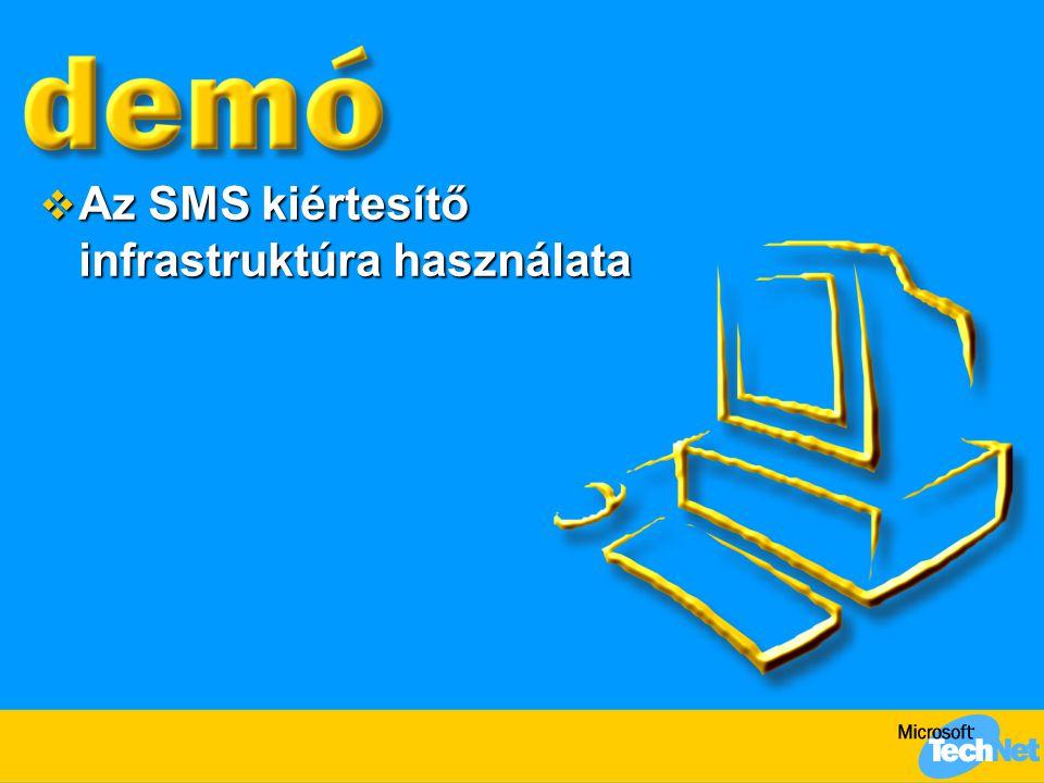  Az SMS kiértesítő infrastruktúra használata