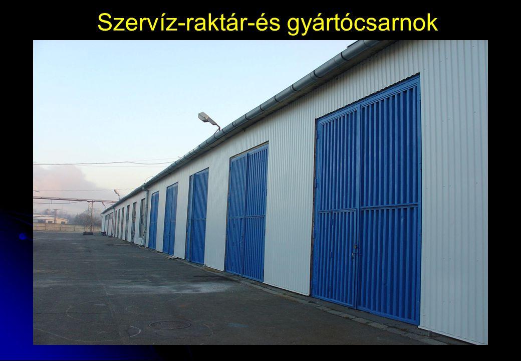Szervíz-raktár-és gyártócsarnok
