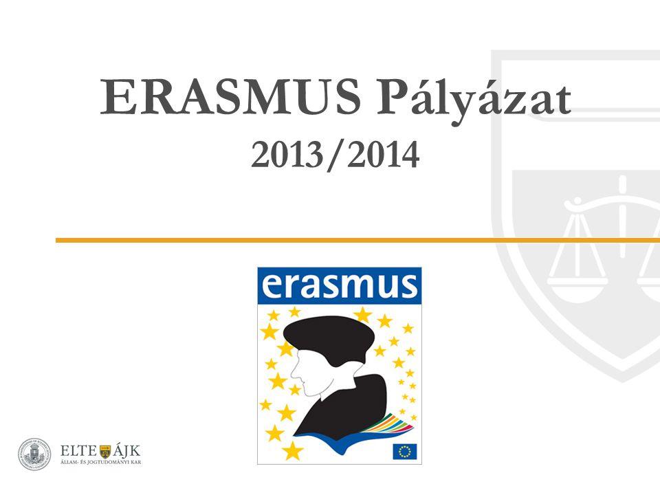 ERASMUS Pályázat 2013/2014