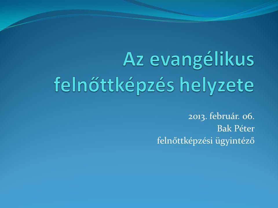 2013. február. 06. Bak Péter felnőttképzési ügyintéző
