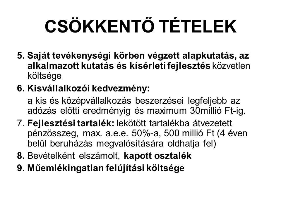 CSÖKKENTŐ TÉTELEK 5.
