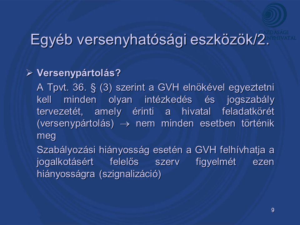 10 Köszönöm a figyelmet! Torjákné Amberger Teréz AMBERGER.terez@ gvh.hu GVH, Versenypolitikai Iroda