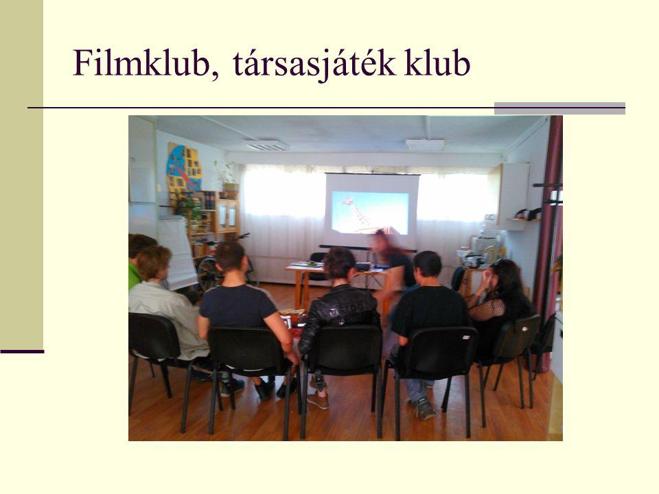 Filmklub, társasjáték klub