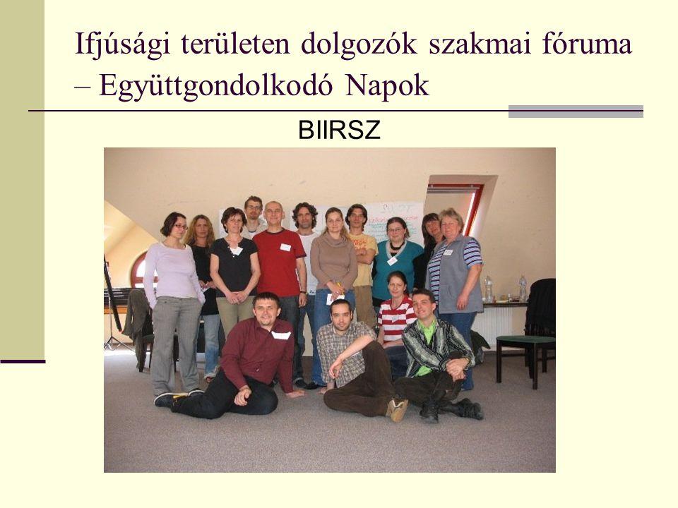 Ifjúsági területen dolgozók szakmai fóruma – Együttgondolkodó Napok BIIRSZ