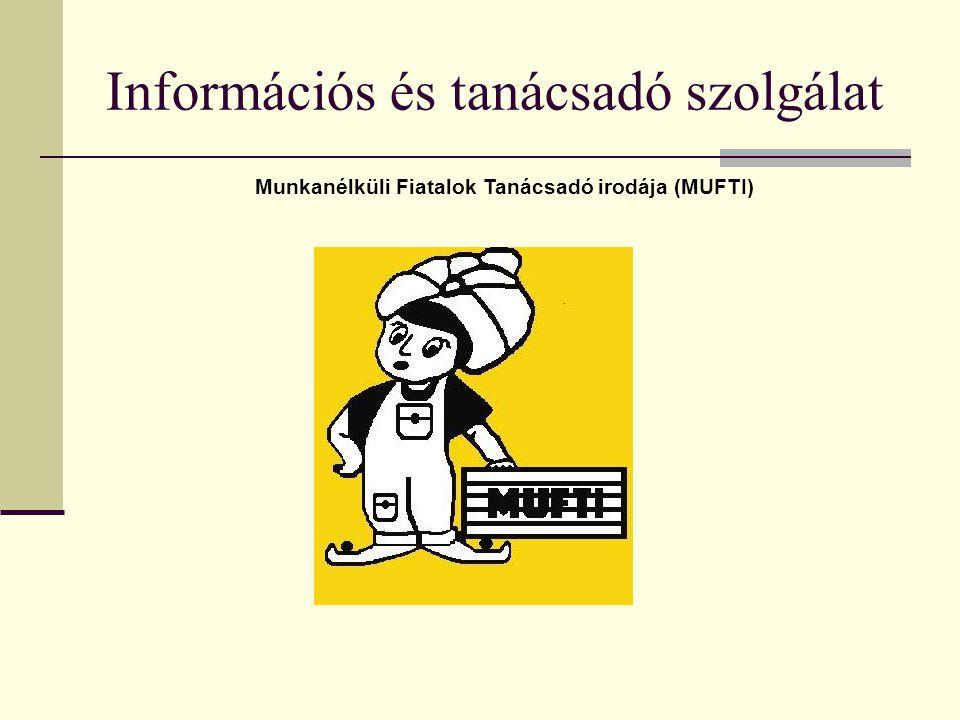 Információs és tanácsadó szolgálat Munkanélküli Fiatalok Tanácsadó irodája (MUFTI)
