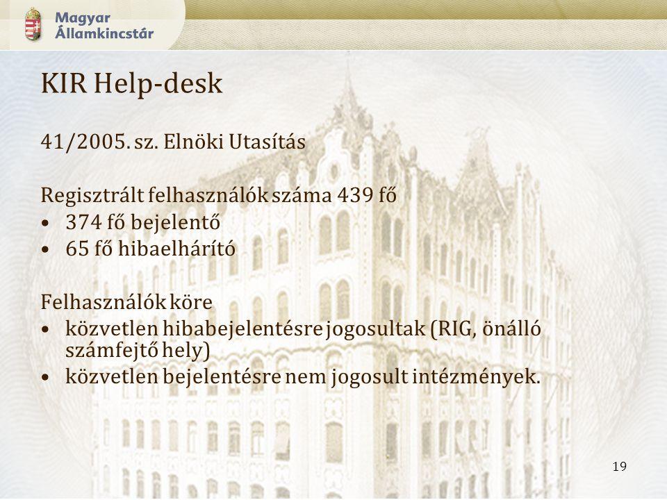 19 KIR Help-desk 41/2005.sz.